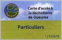 DECHETTERIE DE GUEURES