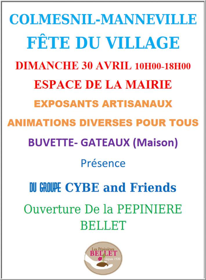 Affiche de la fête de Colmesnil 2017